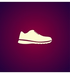 shoe icon Eps 10 vector image