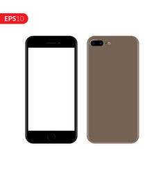 Smartphone mobile phone gold color mockup vector