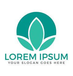 spa lotus wellness salon and business logo vector image
