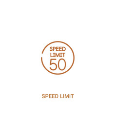 Speed limit concept 2 colored icon simple line vector