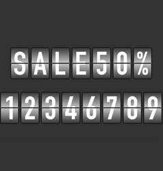 Split flap numbers for sale display vector