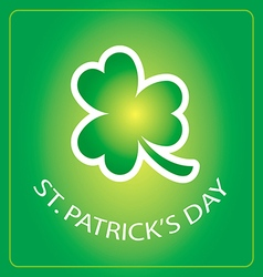 st patricks day card with shamrock 3 vector image