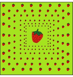 strawberry sweet background vector image