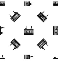 street signboard of beer pattern seamless black vector image