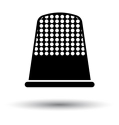 tailor thimble icon vector image