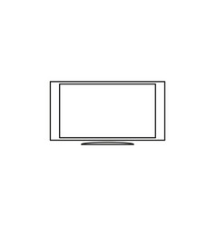 Tv monitor icon vector