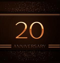 twenty years anniversary celebration logotype vector image