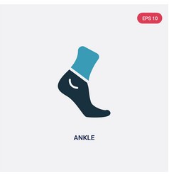 Two color ankle icon from sports concept isolated vector