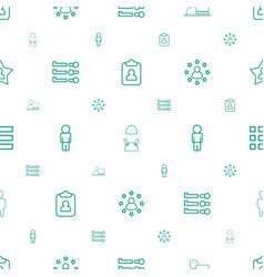user icons pattern seamless white background vector image