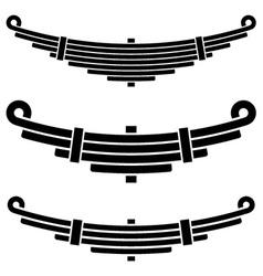 Vehicle leaf spring black symbols vector
