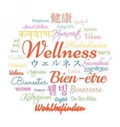 Wellness word cloud vector