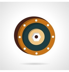 Wheel disk flat icon vector image