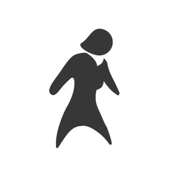 Woman icon Pictogram female design vector image