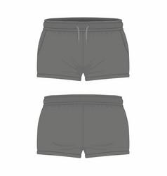 Womens black sport shorts vector