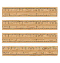 Wood measuring rulers vector