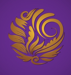 circle gold ornament vector image