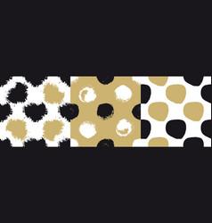 decorative seamless patterns set vector image vector image