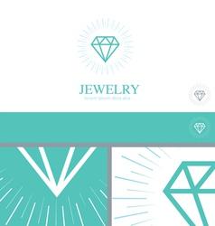Diamond Jewelry Jewler Logo Concept Design Element vector image vector image