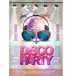 Disco backgroun Disco party poster vector image