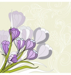 greeting card with violet vector image