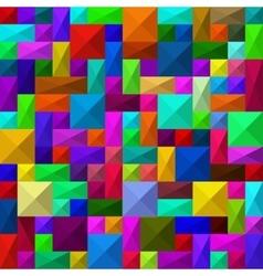 Seamless abstract squares pattern vector image vector image