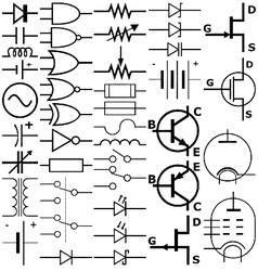 electronic symbols vector image vector image