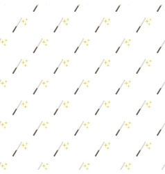 Magic wand pattern cartoon style vector image vector image