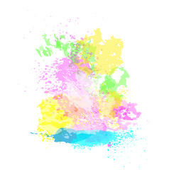 paint splash happy holi religious india holiday vector image