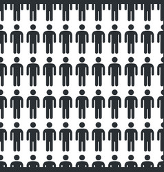 person icon seamless pattern vector image