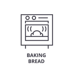 baking bread line icon outline sign linear vector image
