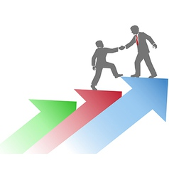 Business people helping team up success vector image vector image