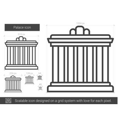 palace line icon vector image