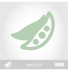 Pea icon vector