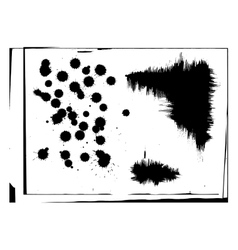 Set of abstract ink hand drawn stains and vector image