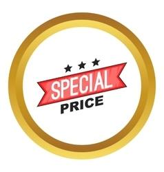 Special price ribbon icon vector image vector image
