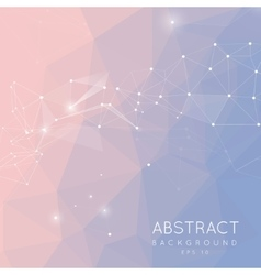 Abstract polygonal background Low poly design vector image vector image