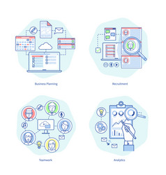 business planning rucruitment vector image