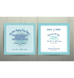 Nautical anchor rope tying the knot wedding card vector image vector image