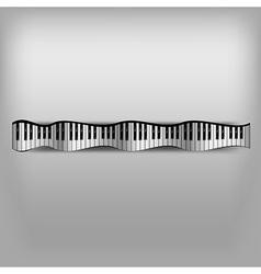 Piano Wave Keyboard vector image