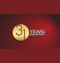 31 years anniversary logotype with golden circle vector