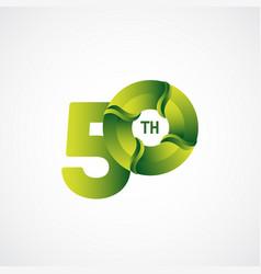 50 th anniversary celebrations green gradient vector