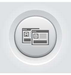 AB Testing Icon Grey Button Design vector