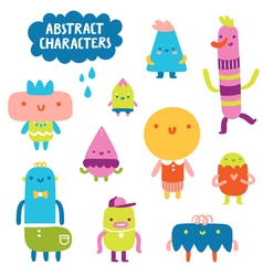 Abstract characters collection vector