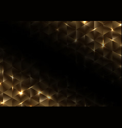 abstract gold geometric triangle shape luxury vector image