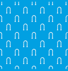 Archway concrete pattern seamless blue vector