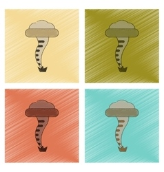 assembly flat shading style icon disaster tornado vector image