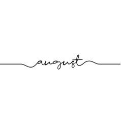 August word handwritten vector