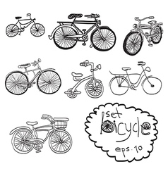 bicycles vector image