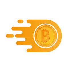 Bitcoin logo and emblem digital cryptocurrency vector