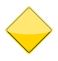 Blank Warning Sign vector image
